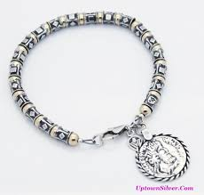 sterling silver bracelet beads charms images B1582 n shop our selection of silpada two tone coin charm JPG