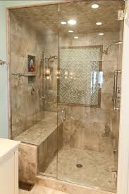 bathroom glass shower ideas stylish bathroom shower enclosures with seat glass doors pictures of