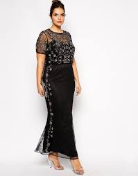 fashion trends scoop neck half sleeves black lace plus size