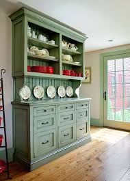 Hutch Kitchen Cabinets Accent Painted Country Kitchen Built In Hutch Country Kitchens