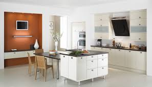 Simple Kitchen Island by White Wooden Kitchen Cabinet And Kitchen Island With Gray Counter