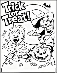trick or treat coloring page stunning free halloween coloring