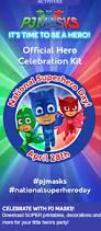 celebrate national superhero april 28 pj masks