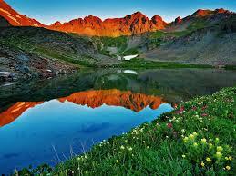 Colorado Lakes Map by Colorado Mountain Landscape Wallpaper
