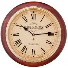 wall watch cobb co medium railway wall clock roman numerals mahogany finish