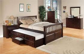 Queen Wood Bed Frame U2013 by Full Size Bed With Trundle Portrayal Of Enjoy Amusing Relaxing