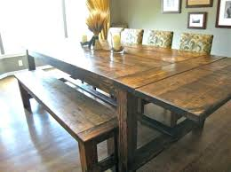 Rustic Dining Tables With Benches Full Image For Diy Patio Dining Table Plans Diy Dining Table Bench