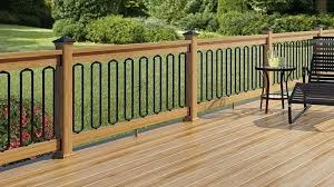 black aluminum deck spindles black classic baluster with arched