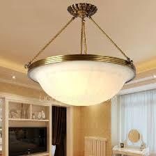 Ls Ceiling Lights Semi Flush Ceiling Light 3 Light Brass Fixture Glass Shade