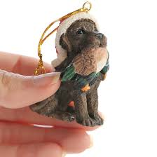 chocolate lab and duck christmas ornament christmas ornaments