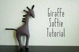 tutorial easy giraffe animal softie stitchenvy