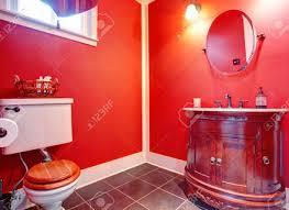 Red Bathroom Cabinets Granite Countertop Red Gloss Kitchen Cabinets Backsplash Tile In