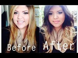 bronde hair home coloring dying my hair blonde to brown ombre before after pics youtube
