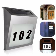 Lighted House Number Sign Solar Powered 3 Led Illuminated House Door Number Light Wall
