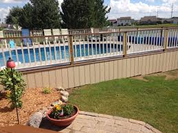 on ground pools semi inground pools by latham products