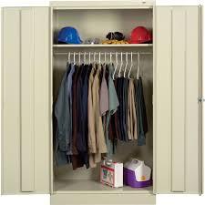 tennsco knock down wardrobe cabinet u2014 36in w x 18in d x 72in h