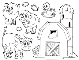 simple farm animal coloring pages farm animal coloring pages