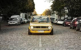 volkswagen background download wallpaper 1440x900 volkswagen golf mk1 yellow front