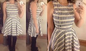 reviews dash tennis dress stripewise chemise stripe