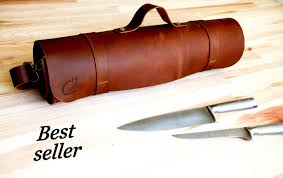Case Kitchen Knives by Brown Leather Knife Roll Chef Knife Case Chef Knife Roll