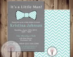 baby bow tie invite etsy