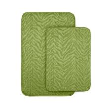 Green Bathroom Rugs by Garland Rug Zebra Lime Green 20 In X 30 In Washable Bathroom 2