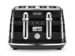 De Longhi Kettle And Toaster Avvolta 4 Slice Toaster Black Toasters Delonghi