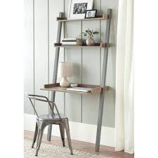 shelves leaning shelf desk pertaining to leaning wall desk with