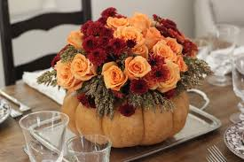 Fall Floral Decorations - decorations pumpkin vase with fall flower arrangement idea