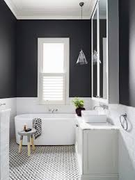 Black And White Powder Room Transitional Farmhouse Powder Room Makeover One Room Challenge