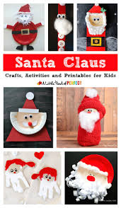 fun santa claus crafts activities and printables for kids