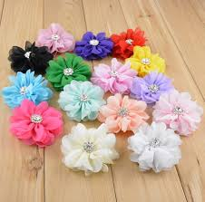 flowers for headbands 2 8inch chiffon fabric flowers for headbands diy artificial