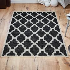 trellis rug in black free uk delivery the rug seller