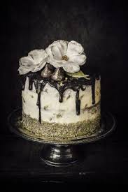 dark chocolate wedding cake with chocolate orange ganache and