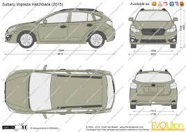 subaru impreza hatchback 2017 the blueprints com vector drawing subaru impreza hatchback
