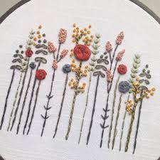 fall floral embroidery art birthday gift christmas gift hostess