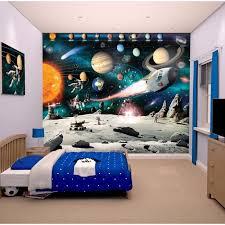 papier peint chambre gar n papier peint enfant fresque murale décorative planètes achat