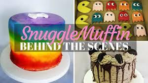 Greggs Halloween Cakes by Behind The Scenes Rainbow Cake Drip Cake U0026 Pac Man Cookies