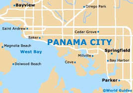 map of panama city panama city maps and orientation panama city florida fl usa
