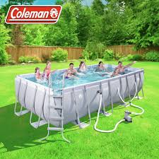 Intex Metal Frame Swimming Pools Coleman Power Steel 18 U0027 X 9 U0027 X 48