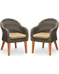 Wicker Patio Dining Chairs Save Your Pennies Deals On Guam 2 Pk Wood U0026 Wicker Patio Dining