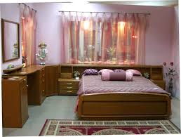 romantic bedroom design with twin bed white bedspread plus white
