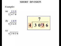 5th grade short division youtube
