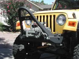 or fab tj stinger front bumper w winch mount