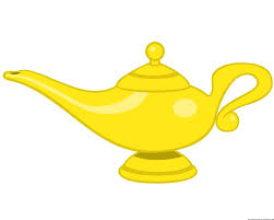 genie lamp clipart magical pencil and in color genie lamp