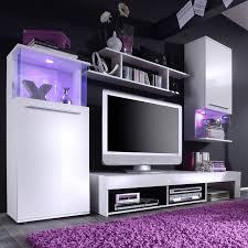 Wohnzimmerschrank Reduziert Modern Wohnwand Punch 4 Teilig In Weiß Home24