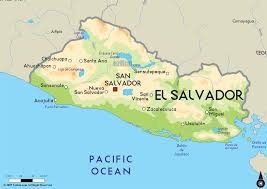 Santa Ana California Map El Salvador Map Cities