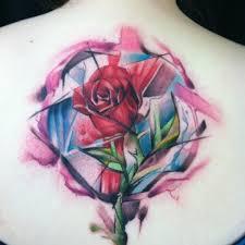 fabulous geometric rose tattoo ideas for everyone u2013 tattooednow ltd