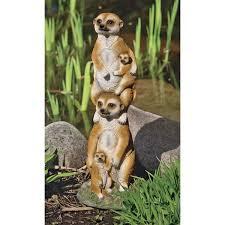 design toscano meerkat generations garden statue reviews wayfair