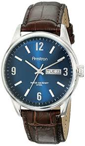 armitron s 20 5048nvsvbn day date function brown